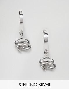 Серебряные серьги-кольца ASOS DESIGN - Серебряный