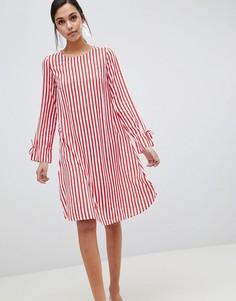 Платье в полоску Y.A.S Trey - Красный