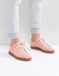 Розовые замшевые кроссовки Puma Classic - Розовый