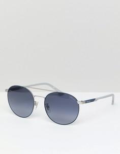 Круглые солнцезащитные очки Police - Серебряный