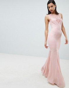 Декорированное шифоновое платье макси City Goddess - Розовый