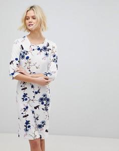 Платье с цветочным принтом b.Young - Мульти