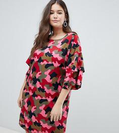 Платье с камуфляжным принтом Junarose - Мульти