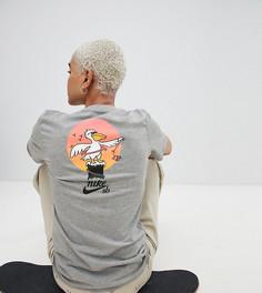 Серая футболка с принтом на спине Nike Sb - Серый