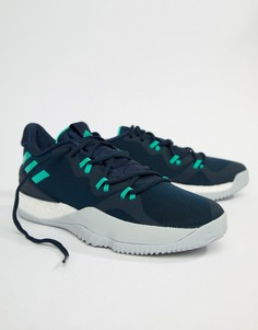 Темно-синие кроссовки adidas Basketball Crazy Light Boost 2018 DB1068 - Темно-синий