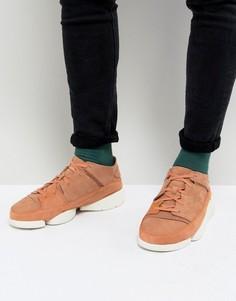 Замшевые кроссовки Clarks Originals Trigenic Evo - Розовый