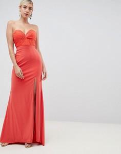 Платье макси с высоким разрезом Jovani - Оранжевый