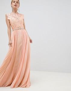 Платье макси из тюля Jovani - Оранжевый