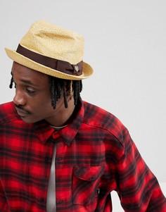 Светло-коричневая шляпа Brixton Castor - Рыжий