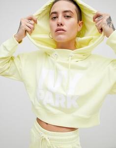 Короткий худи желтого цвета с логотипом Ivy Park - Желтый