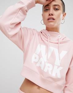 Короткий худи розового цвета с логотипом Ivy Park - Розовый