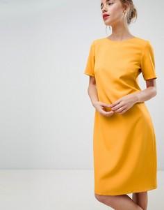 Свободное оранжевое платье с короткими рукавами Closet London - Оранжевый