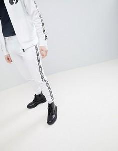 Белые спортивные штаны с контрастными полосками по бокам Money - Белый