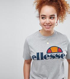 Футболка бойфренда с логотипом на груди Ellesse - Серый