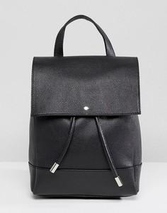 Кожаный рюкзак ASOS DESIGN - Черный