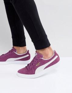 Фиолетовые классические замшевые кроссовки Puma 36534712 - Фиолетовый