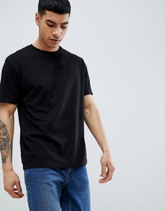 Черная свободная футболка ASOS DESIGN - Черный