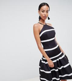 Платье миди в полоску с заниженной талией ASOS DESIGN Tall - Мульти