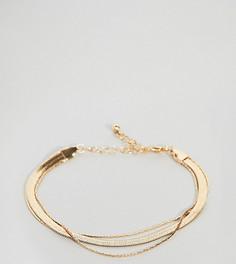 Браслет в винтажном стиле с цепочкой-змейкой ASOS DESIGN Curve - Золотой