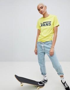 Классическая ярко-желтая футболка с логотипом Vans - Желтый