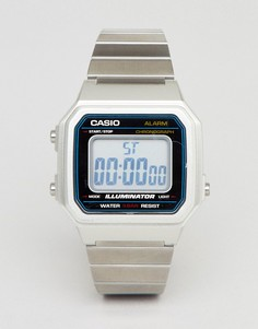 Серебристые цифровые часы Casio B650WC - Серебряный