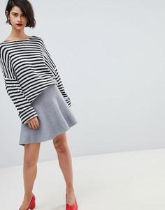 Юбка с оборкой Vero Moda - Серый