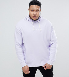 Oversize-худи из фактурного трикотажа Puma Plus - Фиолетовый
