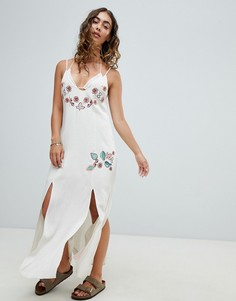 Пляжное платье с вышивкой Somedays Lovin Still Light - Кремовый