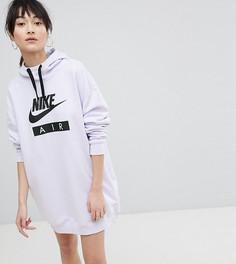 Сиреневое платье-худи в стиле oversize от Nike Air - Фиолетовый
