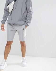 Серые эластичные шорты из нейлона Religion - Серый