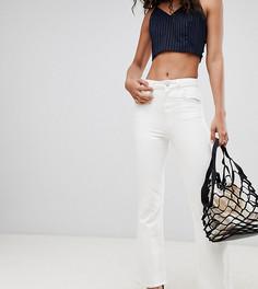 Укороченные расклешенные джинсы с необработанными краями ASOS DESIGN Tall Egerton - Белый