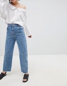 Синие прямые джинсы ASOS DESIGN Premium Florence authentic - Синий