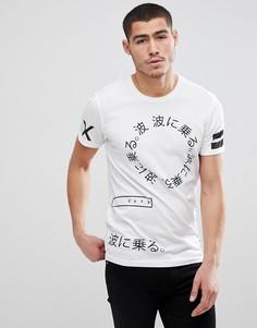 Футболка с надписью на японском языке Solid - Белый !Solid