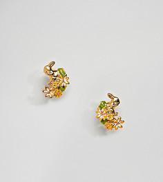 Серьги-гвоздики с позолоченными кроликами Bill Skinner - Золотой