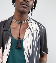 Ожерелье-чокер с кисточками Reclaimed Vintage Inspired эксклюзивно для ASOS - Мульти