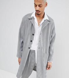 Легкое пальто в клетку Milk It - Серый