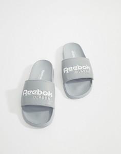 Серые шлепанцы Reebok Classic CN0738 - Серый