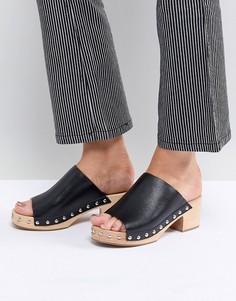 Черные сандалии на каблуке Sol Sana Jackie - Черный