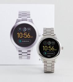 Серебристые наручные смарт-часы Fossil Q FTW6003 Venture - Серебряный