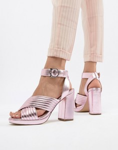 Туфли металлик на каблуке Paul & Joe Sister - Розовый