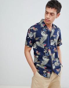 Рубашка с короткими рукавами и отложным воротником Only & Sons - Темно-синий