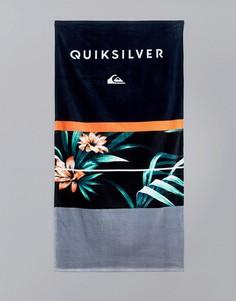 Полотенце с гавайским цветочным принтом Quiksilver Freshness - Черный