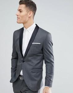 Пиджак-смокинг узкого кроя Selected Homme - Черный