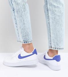 Бело-синие кроссовки Nike Air Force 1 - Белый