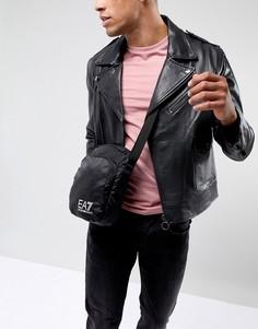 Черная большая сумка с логотипом EA7 - Черный