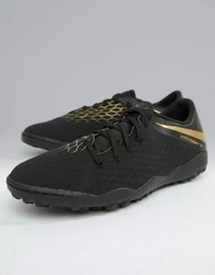 Черные кроссовки Nike Football Hypervenom Phantomx 3 Astro AJ3815-090 - Черный