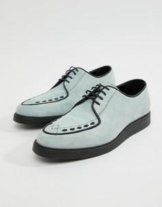 Голубые замшевые криперы со шнуровкой ASOS DESIGN - Синий