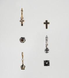 Серьги-гвоздики и серьги-кольца ASOS DESIGN - Серебряный