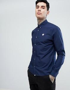 Темно-синяя облегающая рубашка с логотипом Pretty Green - Темно-синий