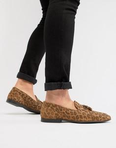 Лоферы с леопардовым принтом ASOS DESIGN - Мульти